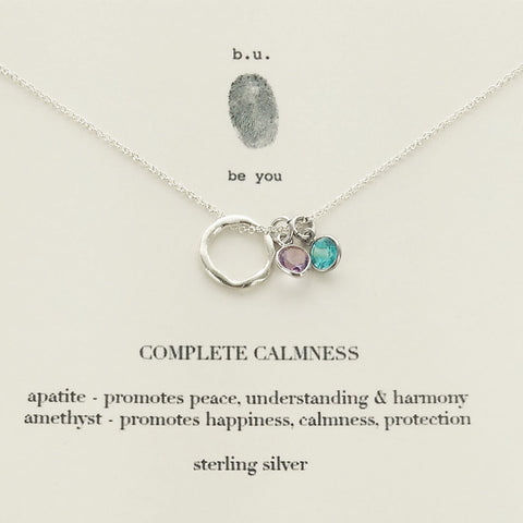 b.u. Complete Calmness Necklace On Quote Card