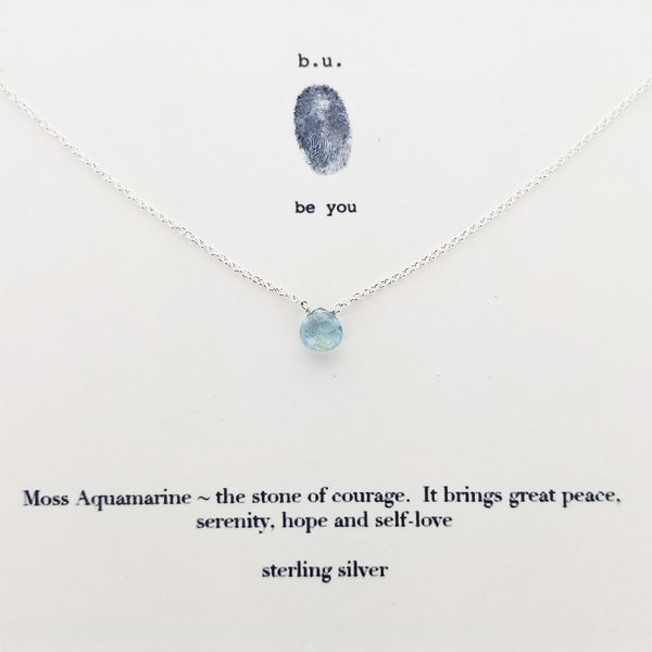 b.u. Courage Peace Serenity Hope Necklace