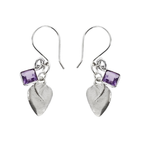 b.u. Double Happiness Amethyst Earrings On Quote Card