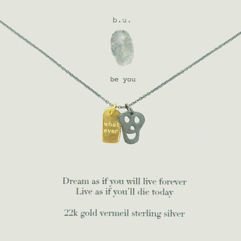 b.u. Dream and Live Necklace