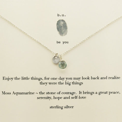 b.u. Enjoy The Little Things Necklace