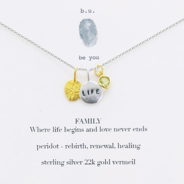 b.u. Family Life Love Necklace