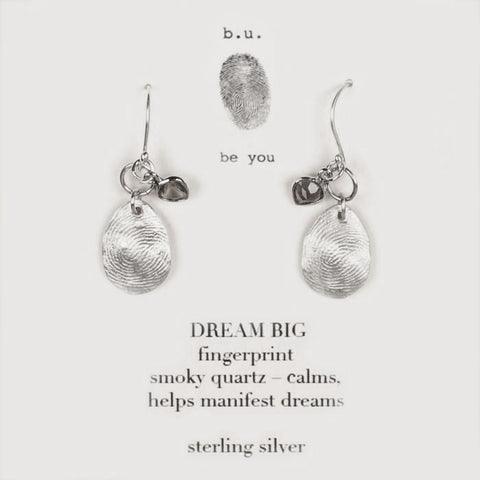 b.u. Dream Big Fingerprint Earrings