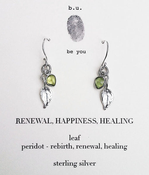 b.u. Renewal Happiness Healing Earrings