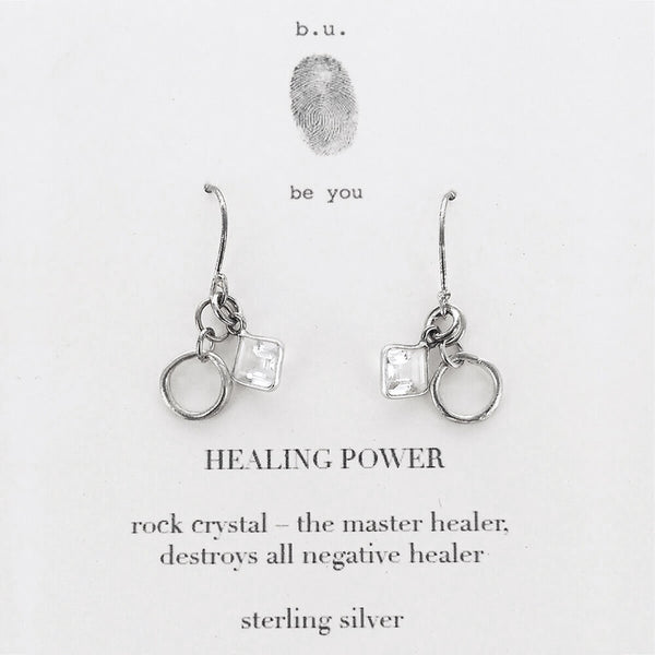 b.u. Healing Power Earrings