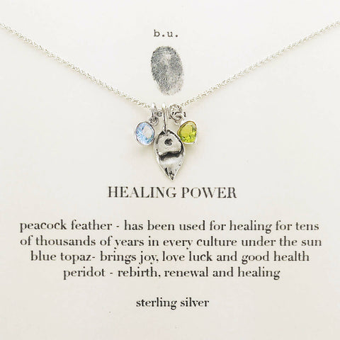 b.u. Healing Power Necklace On Quote Card