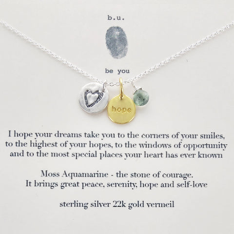 b.u. I Hope Your Dreams Necklace