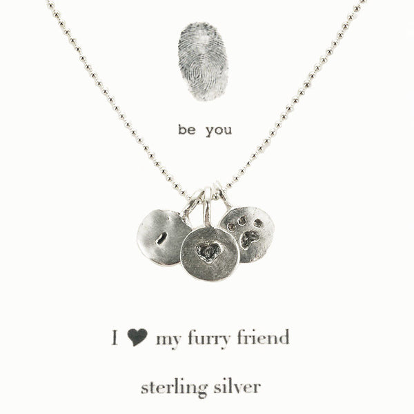 b.u. I Love My Furry Friend Necklace