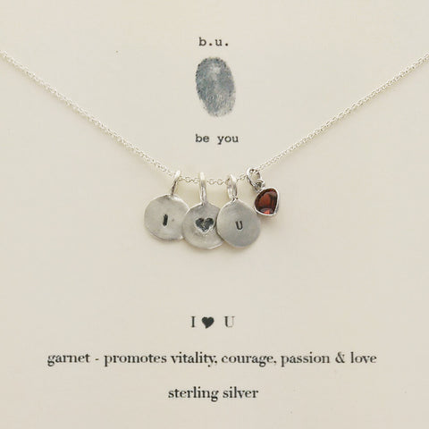 b.u. I Love You Necklace On Gift Card