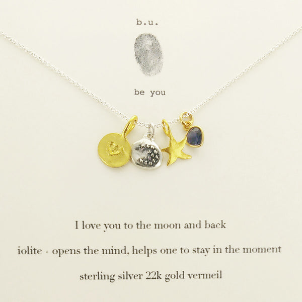 b.u. I Love You To The Moon And Back Necklace