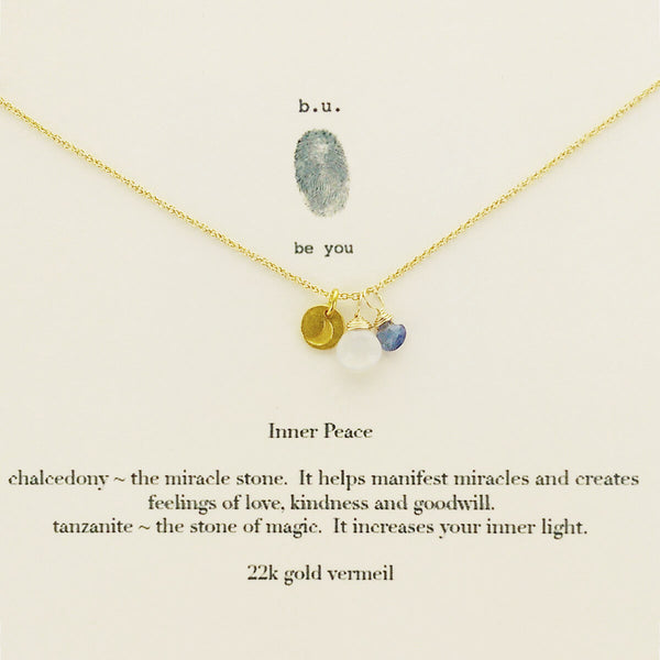 b.u. Inner Peace Charm Necklace