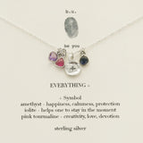 b.u. Inspirational Everything Necklace On Quote Card