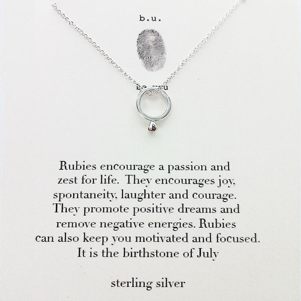 b.u. July Birthstone Necklace