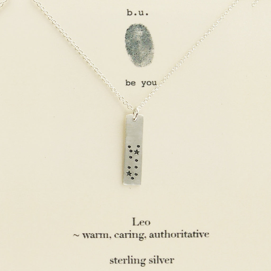 Bu Leo Zodiac Necklace Sheva Jewelry