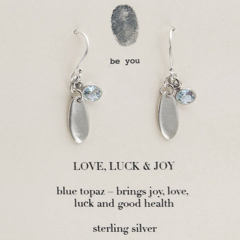 b.u. Love Luck Joy Earrings
