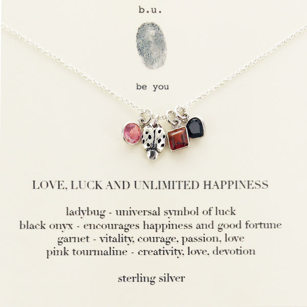 b.u. Love, Luck And Unlimited Happiness Necklace
