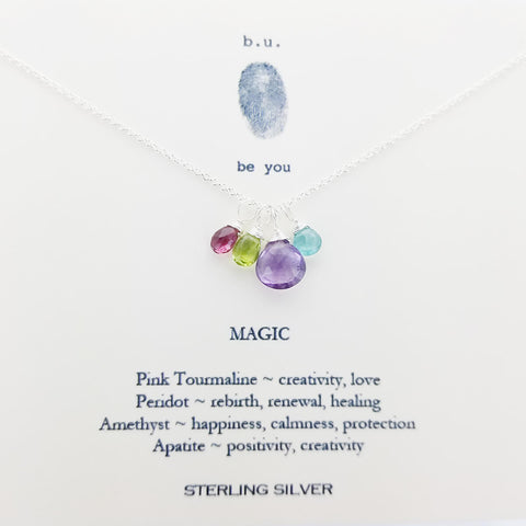 b.u. Magic Gemstone Necklace On Quote Card