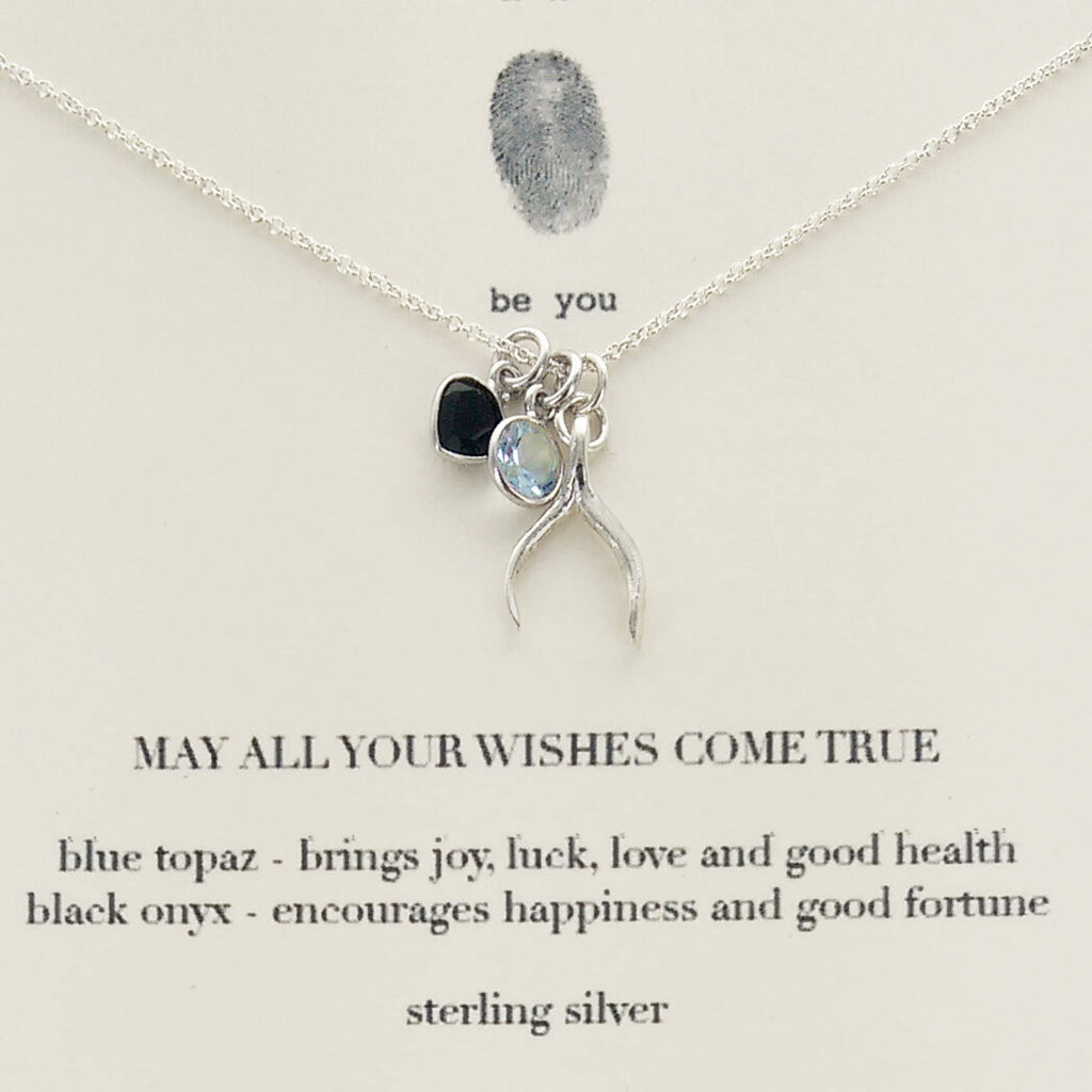 Quoted charm necklace