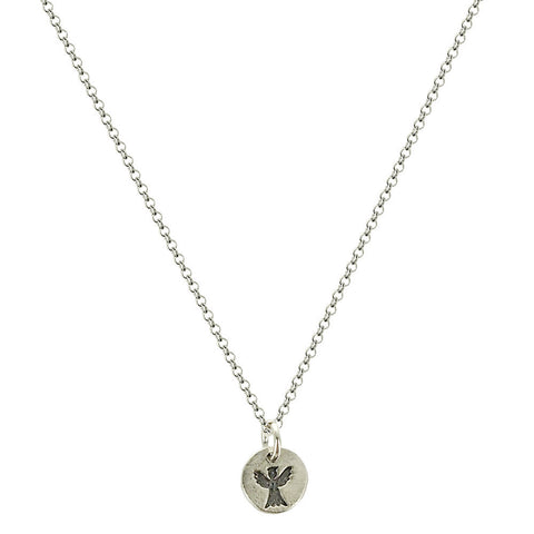 b.u. May Angels Watch Over You Necklace