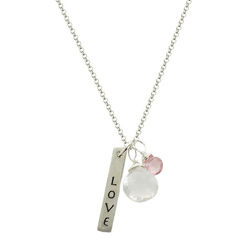 b.u. Journey Filled Love Laughter Necklace