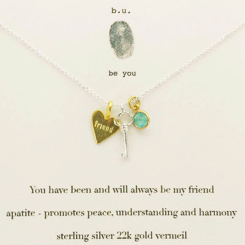 b.u. You Have Always Been My Friend Necklace