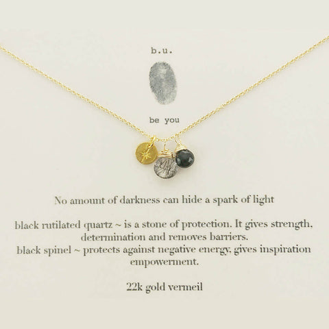 b.u. Spark Of Light Necklace On Quote Card