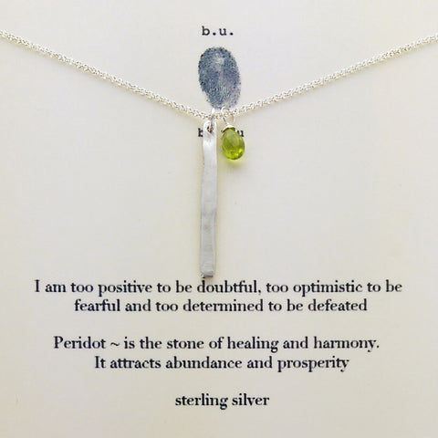 b.u. Optimistic Positive Determined Necklace