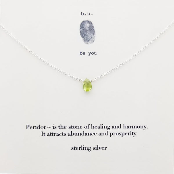 b.u. Peridot Healing And Harmony Necklace