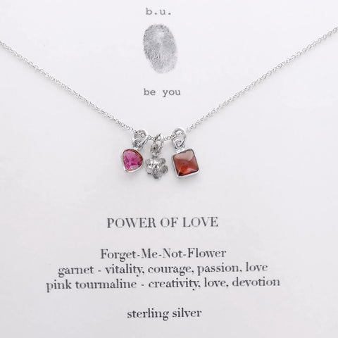 b.u. Power Of Love Flower Necklace