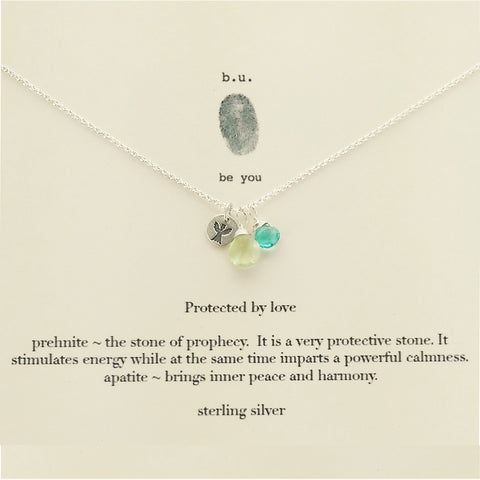b.u. Protected By Love Necklace On Gift Card
