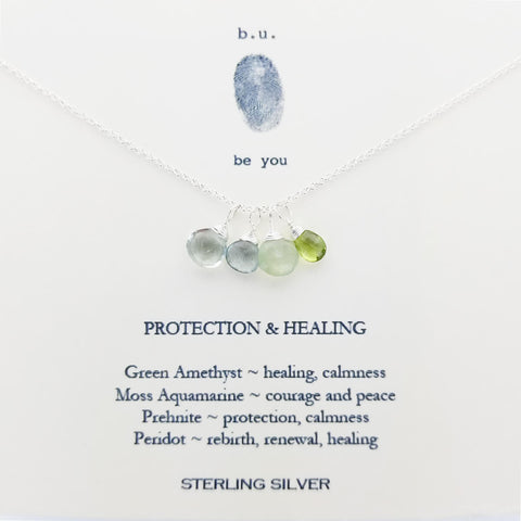b.u Protection And Healing Necklace On Quote Card