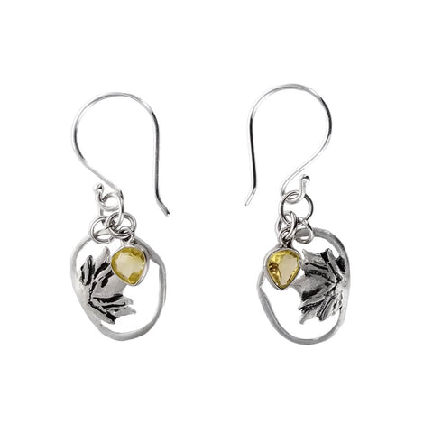b.u. Quiet Strength Citrine Earrings