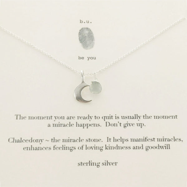 b.u. The Moment You Are Ready Necklace On Card