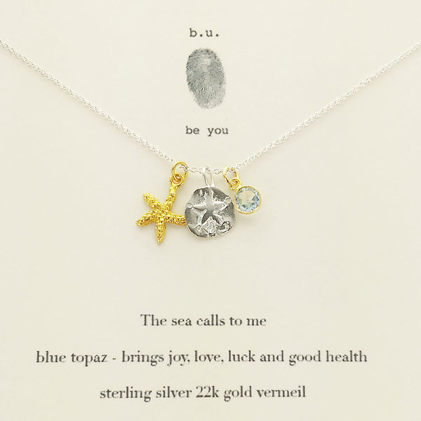 b.u. The Sea Calls To Me Necklace