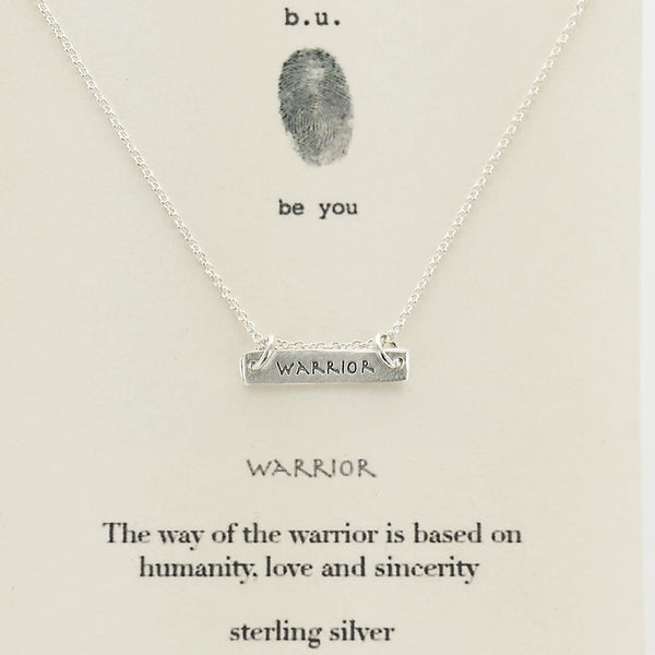 b.u. Warrior Bar Necklace