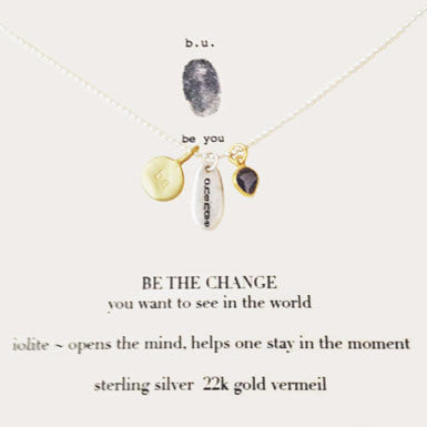 b.u. Be The Change Necklace
