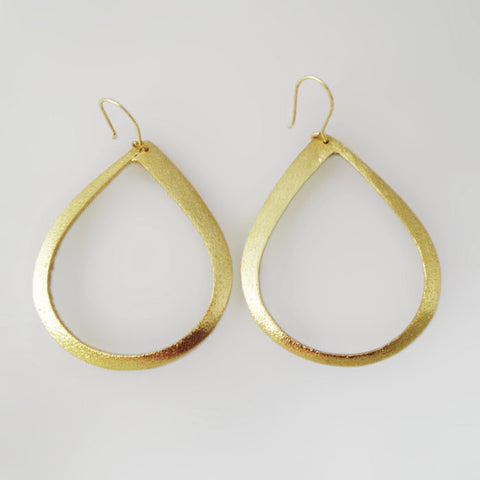 Betty Carre Gold Tear Drop Hoop Earrings