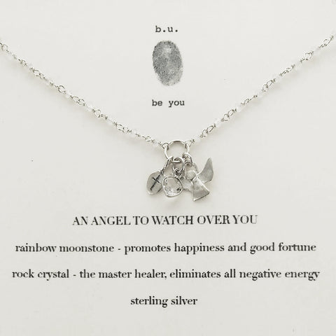 b.u. An Angel To Watch Over You Necklace Quote Card