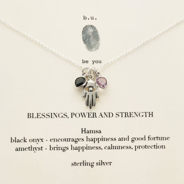 b.u. Blessings, Power, Strength Necklace