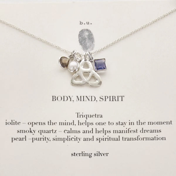 b.u. Triquetra Body, Mind, Spirit Necklace