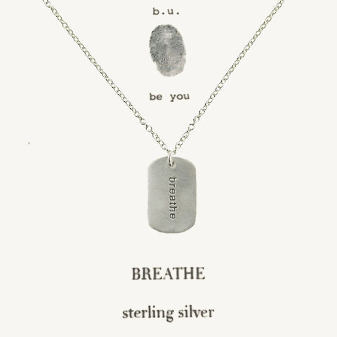 b.u. Breathe Dog Tag Necklace