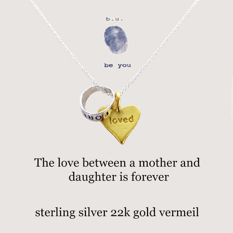 b.u. Mother Daughter Love Necklace