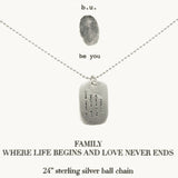 b.u. Family Life Love Dog Tag Necklace