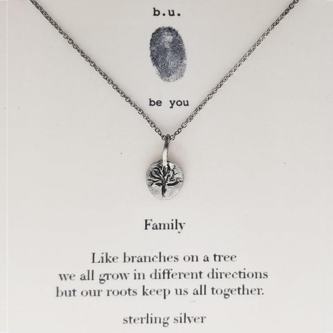 b.u. Family Tree Necklace