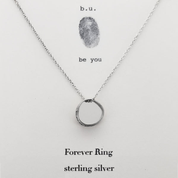 b.u. Forever Ring Necklace