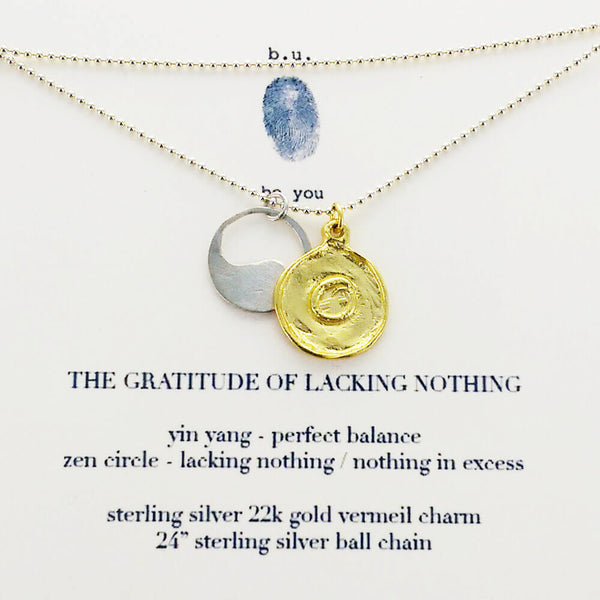 b.u. Gratitude of Lacking Nothing Necklace