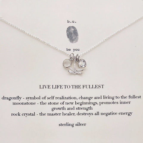 b.u. Live Life To The Fullest Charm Necklace