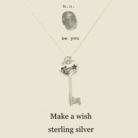 b.u. Make A Wish Key Necklace