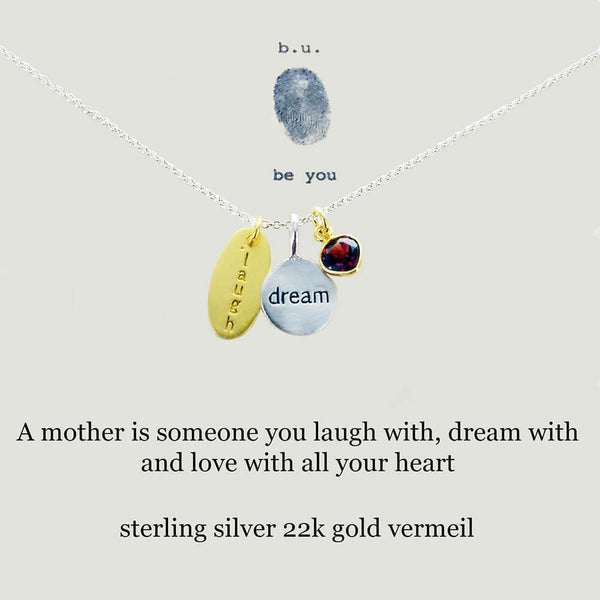 b.u. Mother Laugh Dream Love Necklace