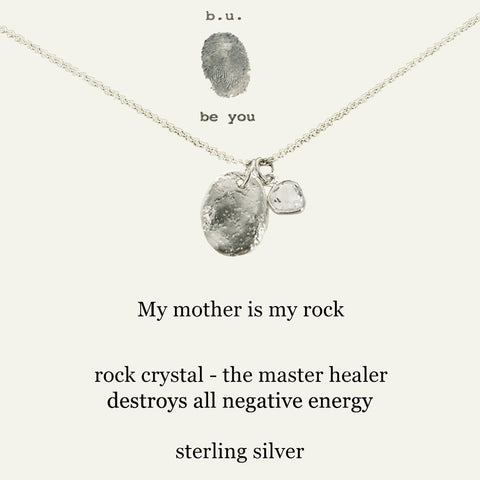 b.u. My Mother My Rock Necklace